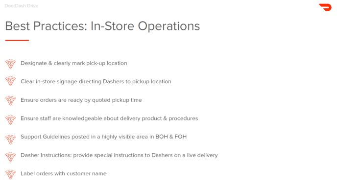 DoorDash delivery best practices
