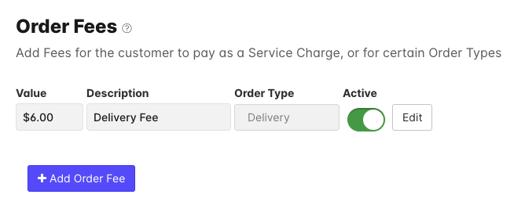 Screenshot Delivery Fee VM
